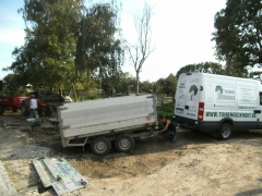 Voorbereiding aanleg tuin