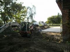 Grondwerken aanleg tuin