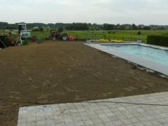 Voorbereiding aanleg graszoden