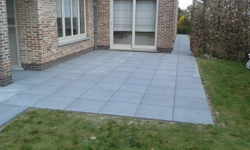 Tuinen eeckhout tuinaanemer realisaties terrassen - Dek een terras met tegels ...